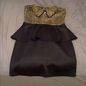 Dress with a sparkly bow at the top.